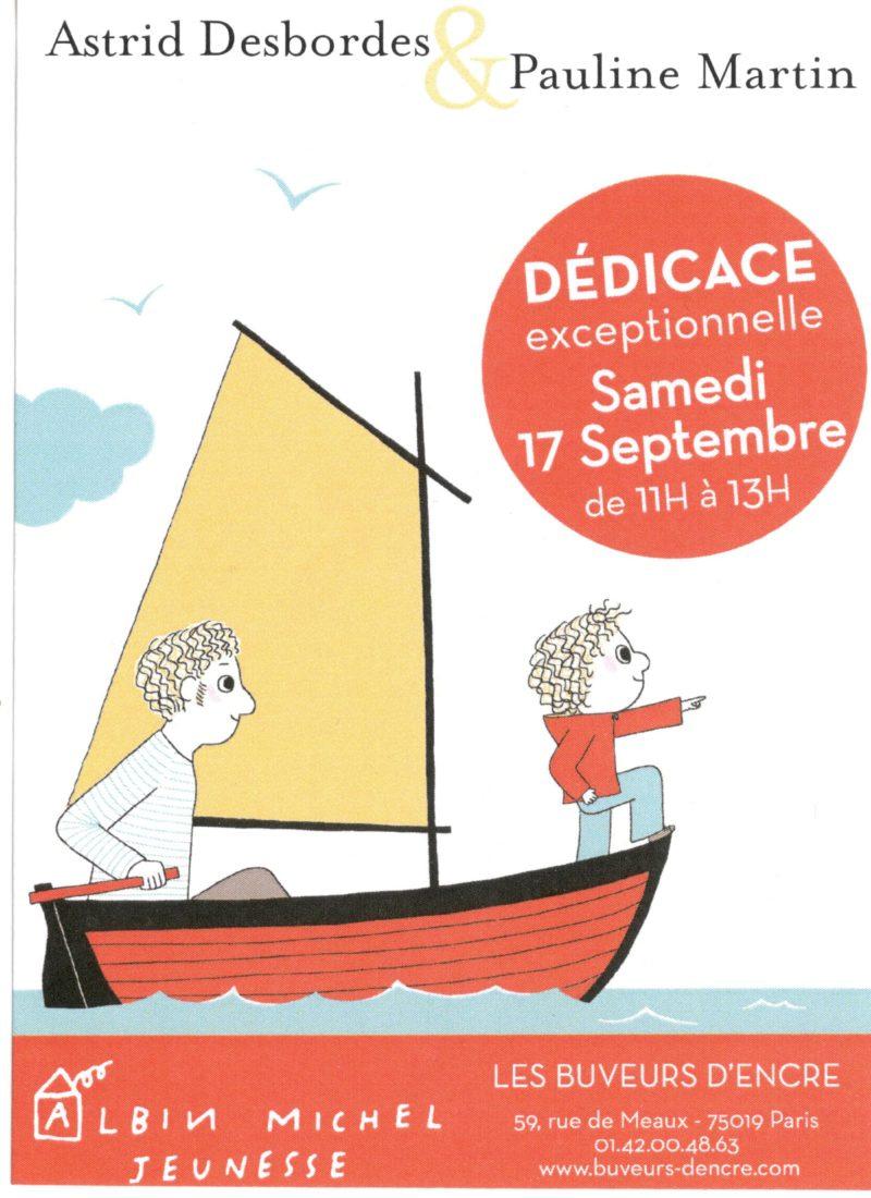Samedi 17 septembre, dédicace d'Astrid Desbordes et de Pauline Martin