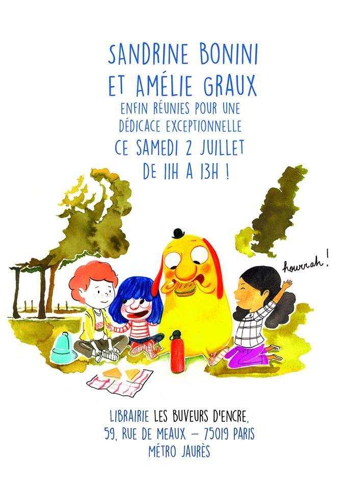 02/07 DEDICACE DE SANDRINE BONINI ET AMELIE GRAUX