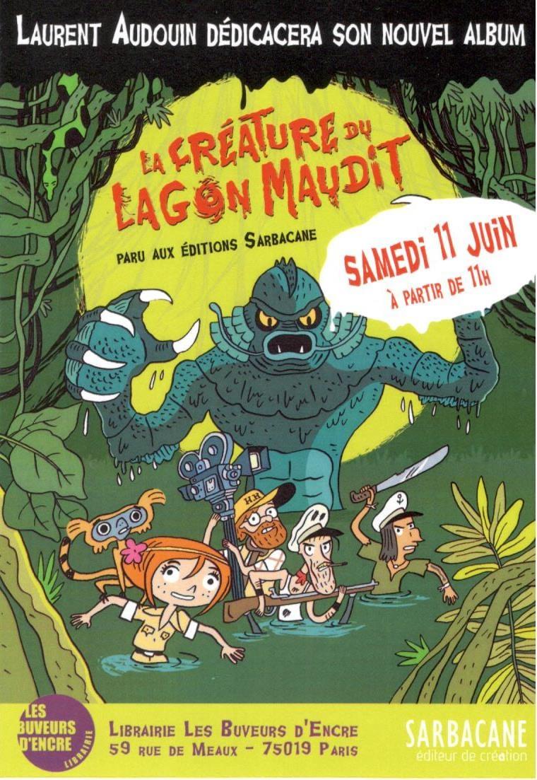 Dédicace de Laurent Audouin samedi 11 juin à 11h