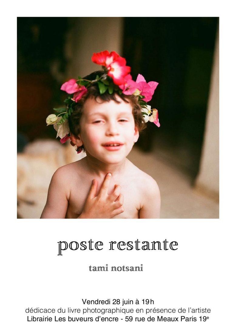 "VENDREDI 28/06 ""POSTE RESTANTE"" DE LA PHOTOGRAPHE TAMI NOTSANI"